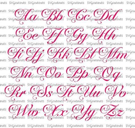 eps format fonts elegant script monogram chateau font design svg eps dxf
