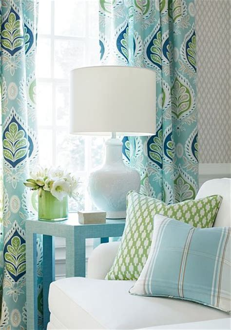 Green And Yellow Curtains Decorating Blue And Green Bedrooms Accessories And Ideas Shades Green And Aqua