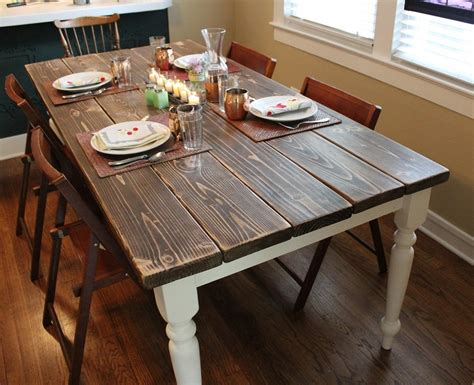Dining Room Table And Bench Set by Artistic And Unique Diy Farmhouse Table Ideas