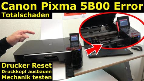 reset canon ix6560 error 5b00 canon pixma fehler 5b00 error totalschaden druckkopf