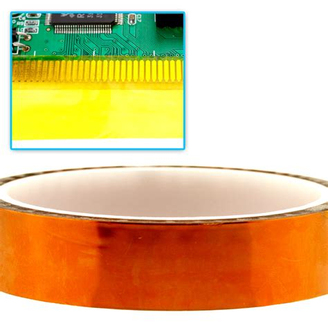 25mm Wide High Temperature Kapton Gold Color kapton polyimide high temperature bga 20mm x 33m