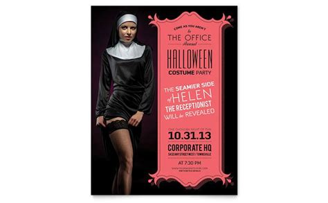 Halloween Office Party Invites Flyer Poster Stocklayouts Blog Office Flyer Templates