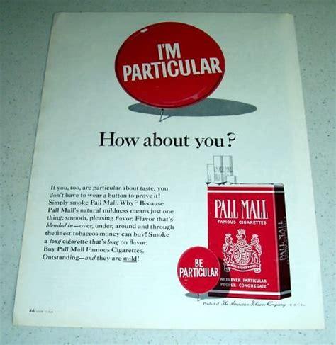 pall mall colors 1964 pall mall tobacco cigarettes color ad