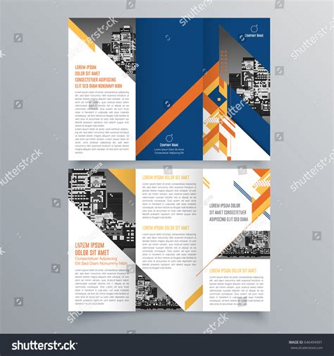 leaflet design trends brochure design brochure template creative trifold stock