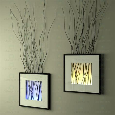 Home Interior Catalog 2013 3d Model The Decor On The Wall Frame With Branches And