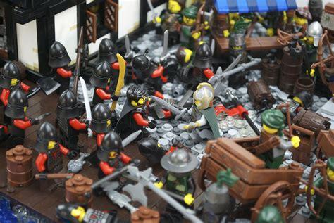 Lego Knights War wallpaper castle river army harbor model war lego