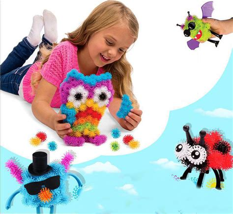 Bounchem Clusters 150 Pcs מוצר 150pcs pack puff squeezed clusters handcraft building block construction