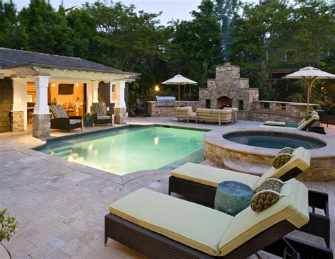 pool and patio decor backyard designs with pool and outdoor kitchen