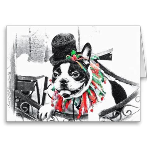 Boston Gift Card - 17 best images about boston terrier christmas cards on pinterest