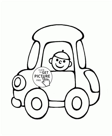 classic cartoon car coloring page cartoon car coloring page