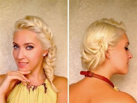 Layered Hairstyles For Medium Hair Tutorial by Fishtail Braid Hairstyles For Medium Layered