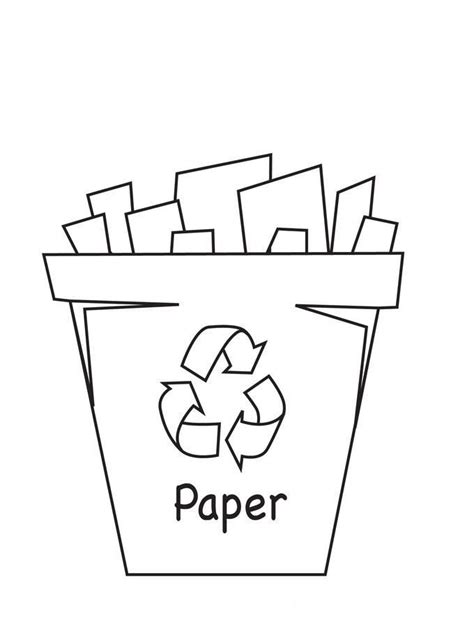 Recycling Coloring Pages For Kids Coloring Home Paper Coloring Pages