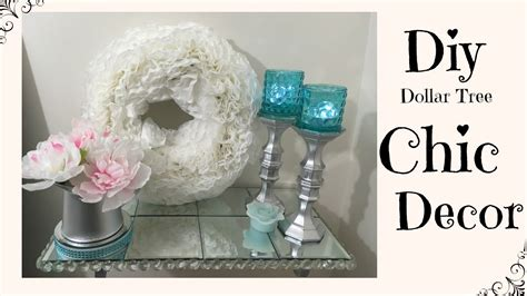 dollar tree home decor diy dollar tree chic home decor youtube