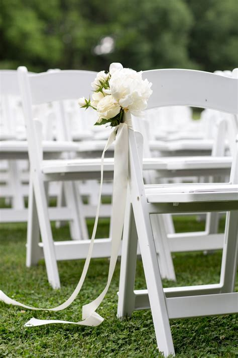 Wedding Ceremony Chairs by Ceremony D 233 Cor Photos White Chairs With White Flowers
