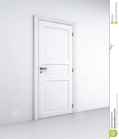 Keyhole Doorway by Door In White Room Stock Illustration Image Of Closed