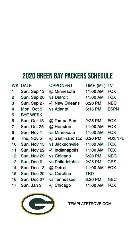 green bay packers lock screen schedule  iphone