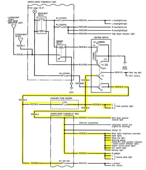 1997 civic fuse box diagram 1997 civic wiper motor wiring