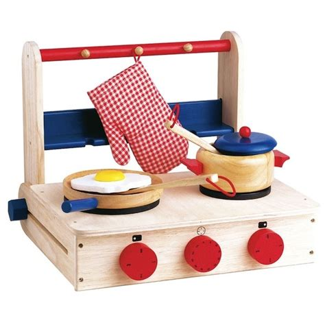 Table Top Play Kitchen Wooden Table Top Cookers Kitchen Play Side Dishes