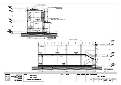 layout kantor dan dasar filling bangunan kantor minimalis 2 lantai untuk pergudangan