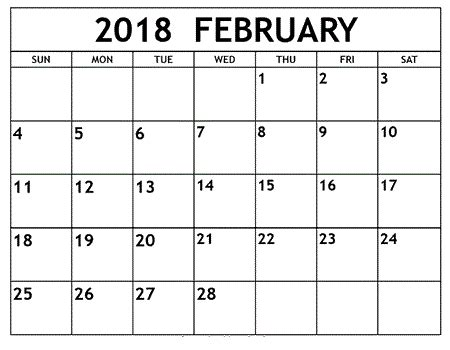 february 2018 calendar printable templates | this site