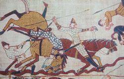tappezzeria di bayeux maiale di bayeux immagine stock immagine di giovane