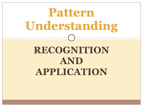 pattern recognition image understanding pattern understanding