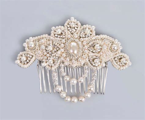 Vintage Bridal Pearl Hair Comb by Lucrezia Pearl And Bridal Comb Hair Jewelry