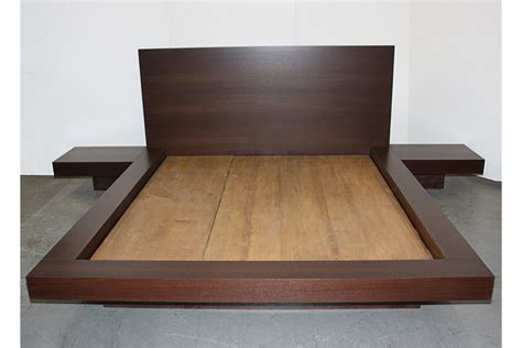 King Headboard With Attached Nightstands by Bed With Nightstands Attached The Midcentury Modernist