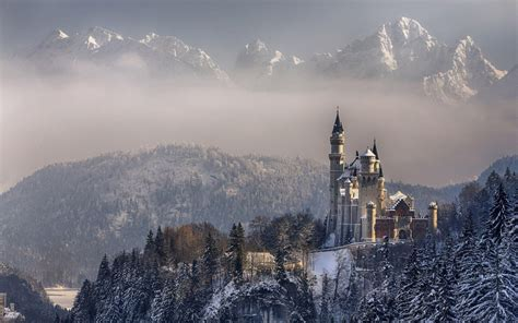 neuschwanstein castle in the winter hd desktop wallpaper
