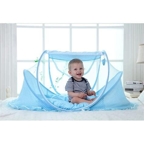 Bantal Shopee kelambu bayi 3in1 dengan kasur dan bantal shopee