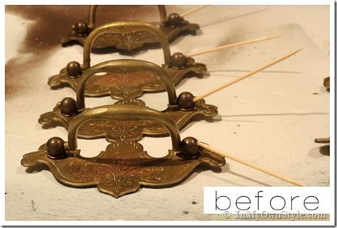 Spray Paint Knobs And Pulls by How To Update Brass Drawer Pulls In Own Style