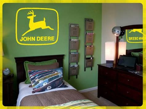 john deere bedroom ideas john deere logo wall art diy removable vinyl decal 24 quot x