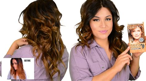 best drug store hair color to cover the grey diy drugstore tone brassy orange ombre highlighted hair