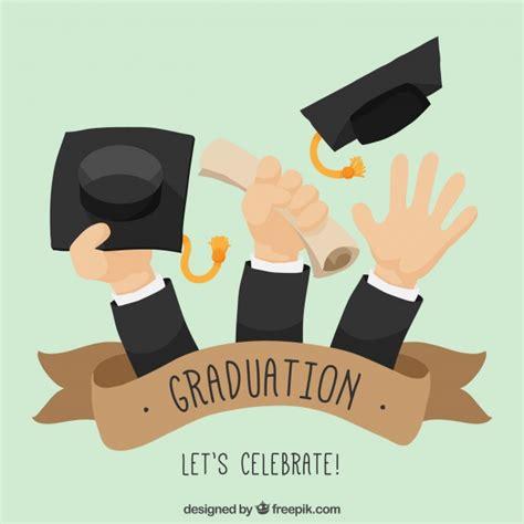 fondo de graduacion im genes de archivo vectores fondo fondo de graduaci 243 n de manos con diploma y gorros de