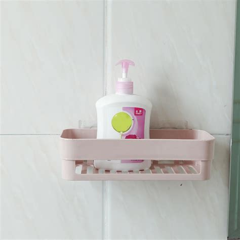 Plastic Bathroom Kitchen Corner Wall Storage Rack Bathroom Shower Baskets