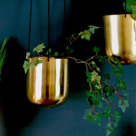 gorgeous brushed brass hanging vase planter plant pot