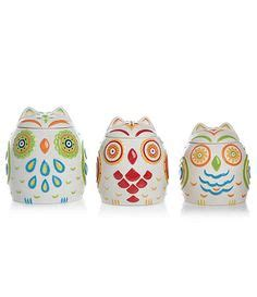 Owl Kitchen Canisters by Owl Canister Set Available At Dillards Com Dillards