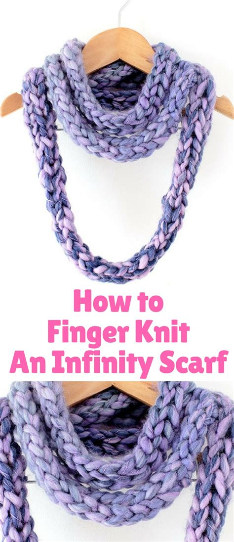 how to knit an infinity scarf how to finger knit an infinity scarf bests