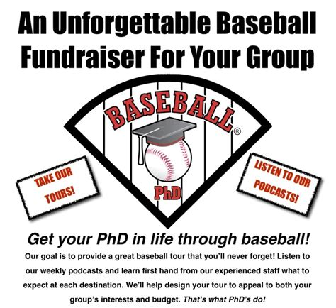 baseball fundraiser flyer template fundraising tours baseball phd