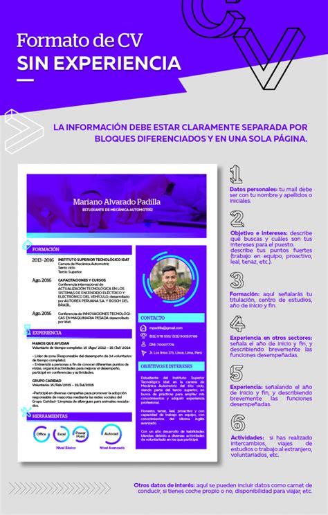 Plantilla De Cv B Sico Experiencia Como Armar Un Curriculum Vitae Experiencia Laboral 191 C 243 Mo Hacer Un Curriculum Vitae