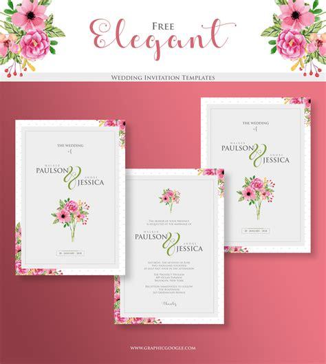 elegant wedding invitation templatesgraphic google