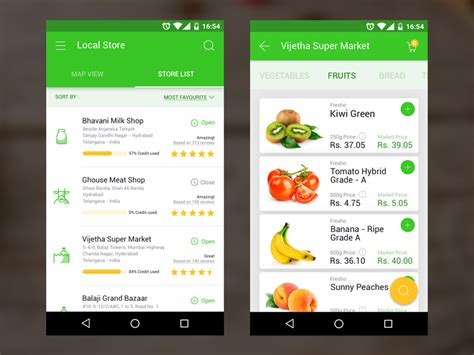 grocery app android grocery app uplabs