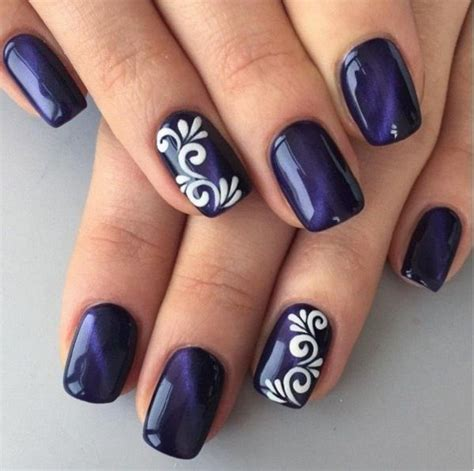 easy nail art blue and white photos nail polish designs drawing art gallery
