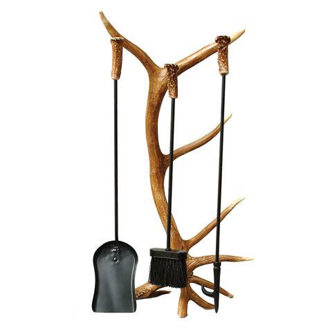 fireplace tool set antler furniture and decor 4 antler fireplace tool