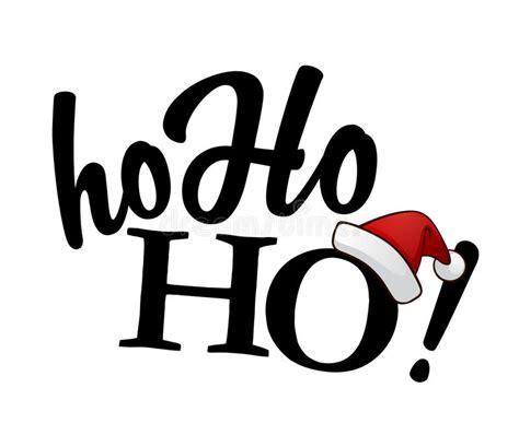 black ho isolated black ho ho ho text stock vector illustration