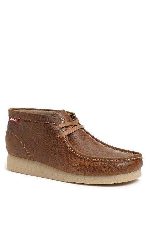 clarks chukka boots clarks stinson moc toe chukka boot in brown for brown