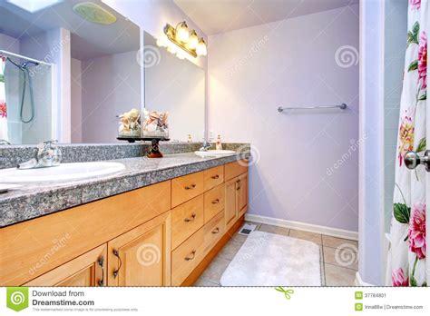 Light lavender bathroom stock image. Image of floral