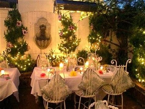 shabby chic garden party adding the greenery to any