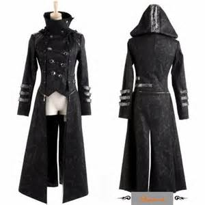 black gothic calvary hooded goth style jackets and long