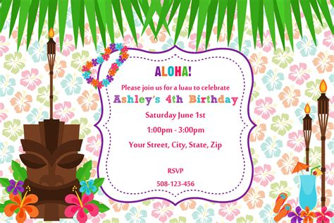 luau invitation template 20 luau birthday invitations designs birthday